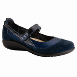 Naot Women's Kirei - Polar Sea Leather / Blue Velvet Suede / Navy Patent Leather