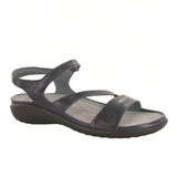 Naot Women's Etera Sandal - Ink Leather - 11111-081 - Angle