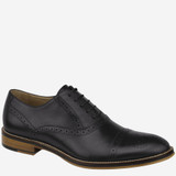 Johnston & Murphy Men's Conard Cap Toe - Black Italian Calf Skin - Profile Pic 1