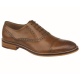 Johnston & Murphy Men's Conard Cap Toe - Tan Italian Calfskin - 20-8682 - Main