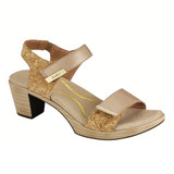 Naot Women's Intact - Champagne / Cork / Gold Threads Leather