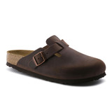 Birkenstock Boston - Habana Oiled Soft Footbed (Regular Width)