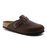 Birkenstock Boston - Habana Oiled Soft Footbed (Regular Width)