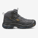KEEN Men's Braddock Waterproof Mid (Soft Toe) - Raven / Estate Blue - 1014605 - Profile