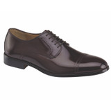 J&M Men's Bradford Cap Toe - Burgundy Brush-Off Leather - 15-1773 - Main