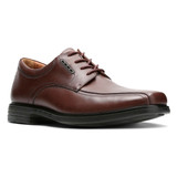 Clarks Men's Un.Kenneth Way - Brown Leather - 26128045 - Angle