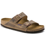 Birkenstock Arizona Soft Footbed - Tobacco Brown Oiled (Narrow Width) - 552813 - Angle