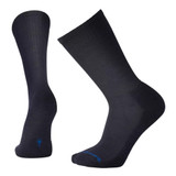 Smartwool Men's New Heathered Rib Socks - Deep Navy Heather - Dual