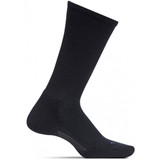 Feetures Men's Everyday Casual Rib Cushion Crew Socks - Black   - LM10101 - Profile