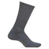 Feetures Men's Everyday Casual Rib Cushion Crew Socks - Grey - LM10107 - Profile