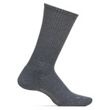 Feetures Men's Everyday Casual Rib Cushion Crew Socks - Grey - LM10107 - Profile