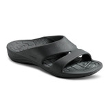 Aetrex Women's Bali Orthotic Slides - Black - L9000/BLACK - Angle