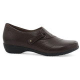 Dansko Women's Franny - Chocolate Burnished Calf - 5500-230200 - Profile