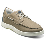 Florsheim Men's Edge Moc Toe Boat Shoe - Khaki / Navy