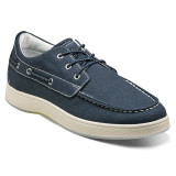 Florsheim Men's Edge Moc Toe Boat Shoe - Navy