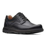 Clarks Men's Un.Ramble Lace - Black Leather - 26136989 - Angle