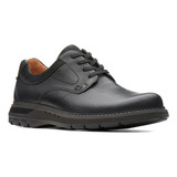 Clark's Men's Un.Ramble Lo - Black Leather - 26136992 - Angle
