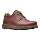 Clark's Men's Un.Ramble Lo - Mahogany Leather - 26138290 - Angle