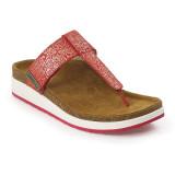 Aetrex Women's Phoebe Thong Sandal - Red Metallic