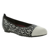 Munro Women's Henlee - Black / White Fabric / Pearl Kid - M183480 - Angle