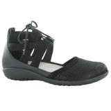 Naot Women's Kata Gladiator Sandal - Black Crackle / Black Velvet - 11152-NAZ - Main