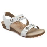 Aetrex Women's Jillian Braided Quarter Strap - White - SC453 - Main