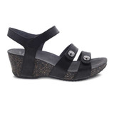 Dansko Women's Savannah Sandal - Black Waxy Burnished - 3422-470200 - Profile