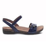 Dansko Women's Rebekah Sandal - Navy Waxy Burnished - 6021-755300 - Profile