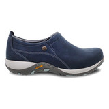 Dansko Women's Patti - Navy Milled Nubuck - 4353-752005 - Profile