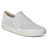 ECCO Women's Soft 7 Laser Cut Slip-On - White - 430813-01007 - Main
