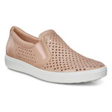 ECCO Women's Soft 7 Laser Cut Slip-On - Champagne Metallic - 430813-51408 - Main Image