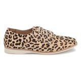Rollie Women's Derby - Camel Leopard Calf Hair - DERBY/LEOPARD - Profile