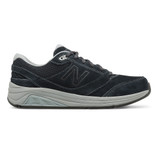 New Balance Women's Suede 928v3 - Navy with Grey - WW928NV3 - Profile