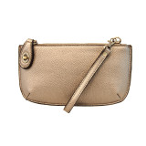 Mini Crossbody Wristlet Clutch - Metallic Light Bronze - L8000-40 - Profile