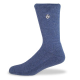 Sky Footwear Happy Camper Outdoor Crew Sock - Heather Gray / Blue - SKY/HAPPYCAMPER