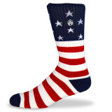 Sky Footwear 'Merica Crew Socks - Red/ White / Blue - SKY/MERICA