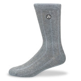 Sky Footwear Stormy Gray Knit Crew Socks - SKY/STORMYGRAY - Main Image