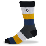 Sky Footwear Sunshine Stripe Dress Socks - Black / Gray / Mustard / Navy - Main