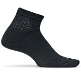 Feetures Therapeutic Light Cushion Quarter Socks - Black - F200301