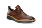ECCO Men's ST.1 Hybrid Shoe Plain Toe - Cognac - 836404-01053 - Angle