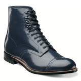 Stacy Adams Madison Cap Toe Boot - Navy - 00015-410 - Angle