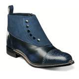 Stacy Adams Madison Cap Toe Side Zipper Demi Boot - Navy - 00083-410 - Angle