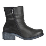 Naot Women's Bohemian Poet Boot - Tin Gray Leather / Oily Midnight Suede / Ink Leather - 17605-NNP - Profile