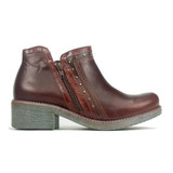 Naot Women's Meditate Bootie - Soft Brown Leather / Luggage Brown Leather - Profile