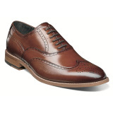 Stacy Adams Men's Dunbar Wingtip Oxford - Cognac - 25064-221 - Angle
