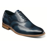 Stacy Adams Men's Dunbar Wingtip Oxford - Indigo - 25064-401 - Angle