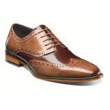 Stacy Adams Men's Tinsley Wingtip Oxford - Tan & Brown - 25092-238 - Angle