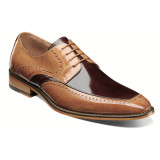 Stacy Adams Men's Sanford Moc Toe Oxford - Tan & Brown - 25240-238 - Angle