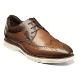 Stacy Adams Men's Regent Wingtip Oxford - Cognac Multi - 25269-229 - Angle