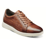 Stacy Adams Men's Halcyon Exotic Print Cap Toe Lace - Cognac - 25295-221 - Angle